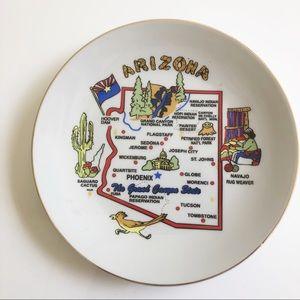Vintage Arizona Hanging State small plate